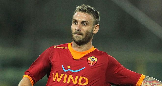 Daniele De Rossi: Yet to sign a new deal at Roma and has been linked with a move away