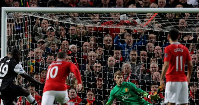 Demba Ba: Held his nerve to slot home a contentious penalty at Old Trafford