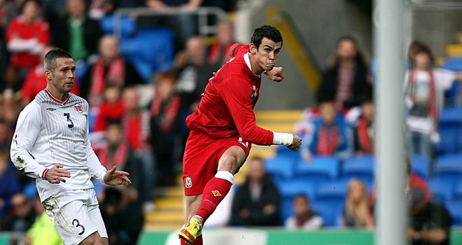 Gareth Bale: Fires home the opening goal of the game against Norway
