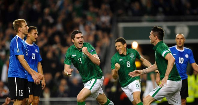 Stephen Ward: Was on target to seal Ireland's place in Euro 2012