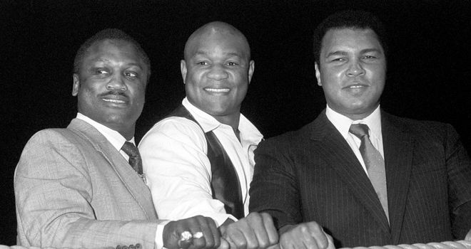 Frazier, Foreman and Ali headed a golden age of US heavyweights