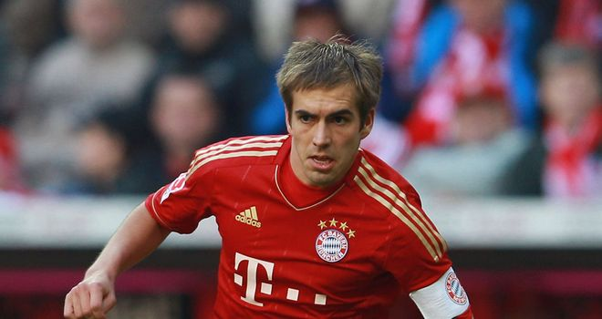 Philipp Lahm: Germany's captain on Sunday played in Bayern's win over Schalke