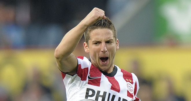 Mertens: Hat-trick hero for PSV