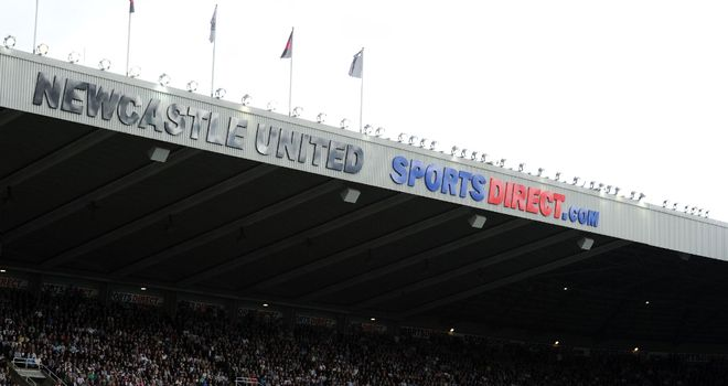 Ground down: Jeff wonders whether St James' Park will ever be usurped by a sponsor