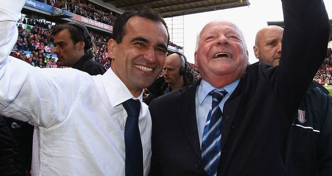 Roberto Martinez and Dave Whelan: Wigan pair to meet on Monday after dismal Swansea defeat