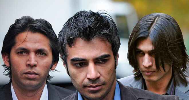 Left to right: Mohammed Asif, Salman Butt and Mohammad Amir all imprisoned