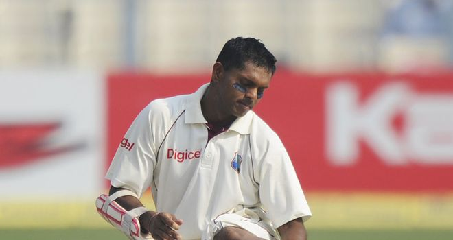 Shivnarine Chanderpaul: Suffered calf injury at the crease during the second Test in Kolkata