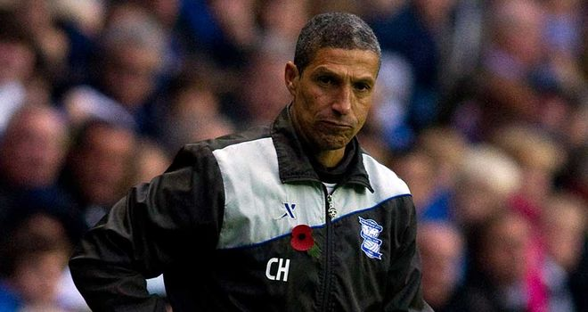 Chris Hughton: Braga defeat was only his seventh loss in 24 domestic and European games at the Blues helm