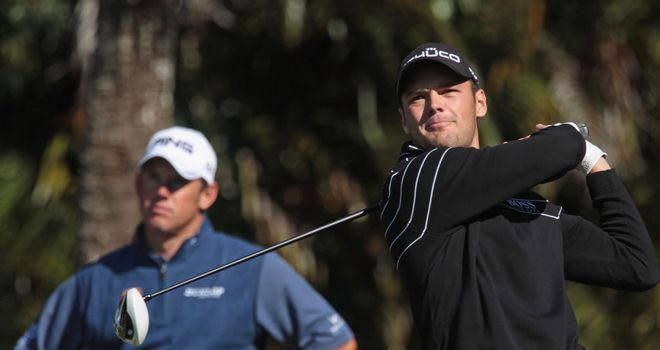 Martin Kaymer (R): Will not be joining Lee Westwood (L) on the PGA Tour in 2012.