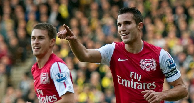 Aaron Ramsey is hoping team-mate Robin van Persie will stay at Arsenal this summer