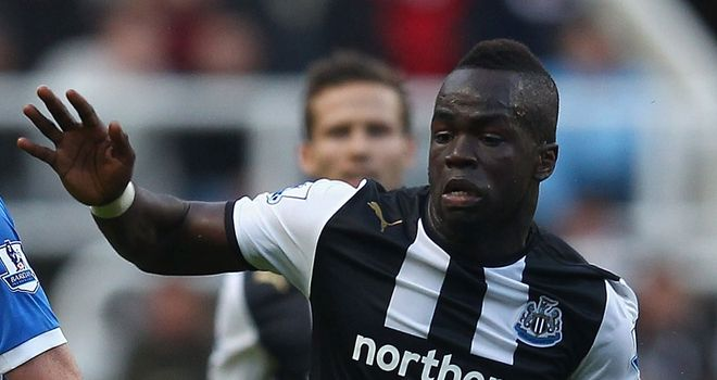 Cheick Tiote: Hoping to make his return to action against Manchester City this weekend
