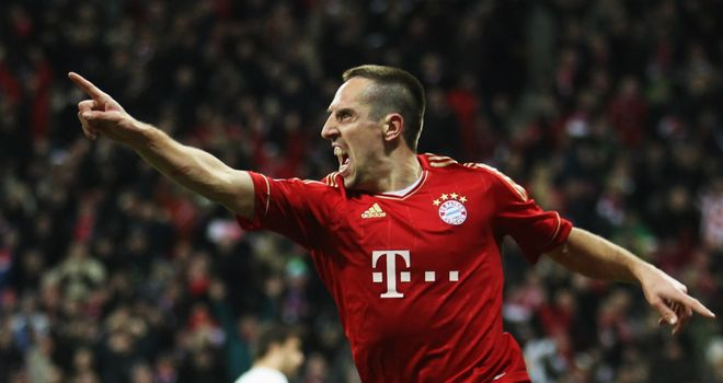 Franck Ribery: Scored twice for Bayern Munich