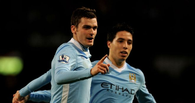 Adam Johnson: Played a key role as Manchester City enjoyed a 3-0 home win over Fulham