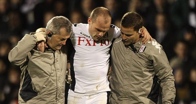 Danny Murphy: Injured an ankle against Liverpool and set for a fitness test