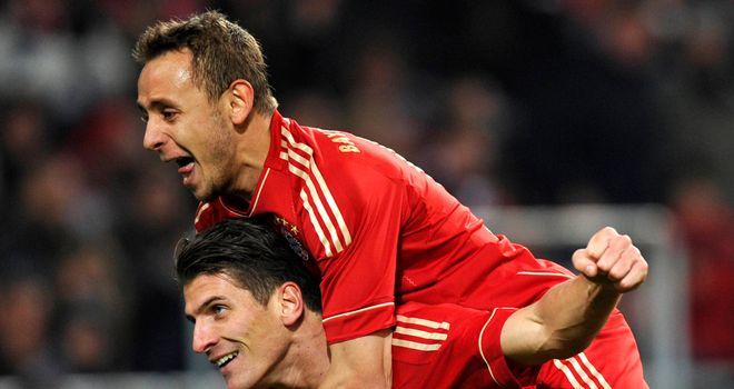 Mario Gomez: Striker set Bayern Munich on the way to a 2-0 home win over Wolfsburg