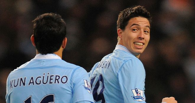 Samir Nasri: Starting to find his feet at Man City following summer switch from Arsenal