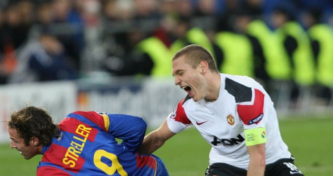 Nemanja Vidic: The United captain was stretchered from the field against Basel