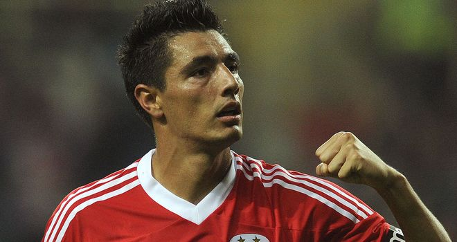 Oscar Cardozo: The Benfica man scores winner at Bayer Leverkusen