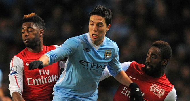 Samir Nasri: The Frenchman has made a slow start to life at Manchester City