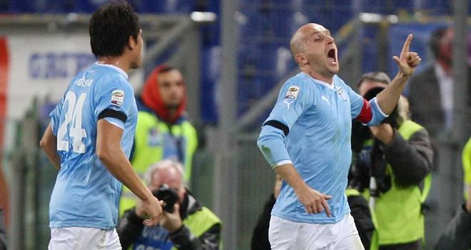 Tommaso Rocchi: Scored a double to seal Lazio's home victory