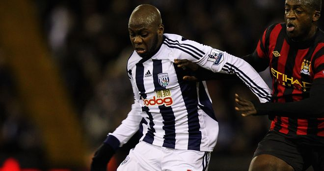 Youssouf Mulumbu: On target for West Brom in their victory over Nottingham Forest