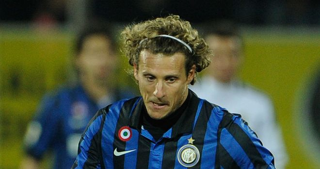Diego Forlan: Said to be staying at the San Siro despite links to return to South America