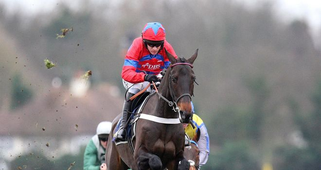 Sprinter Sacre on his way to a brilliant win.