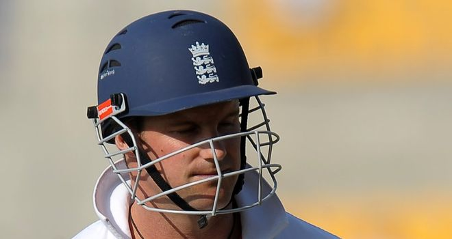 Andrew Strauss: top-scored with 32 in a total of 72 all out
