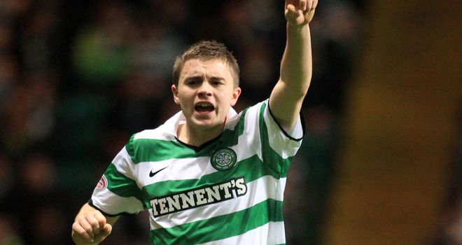 James Forrest: Hoping to celebrate winning the SPL title in front of the Celtic fans