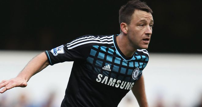 John Terry: Has not played since the FA Cup win over QPR at the end of January