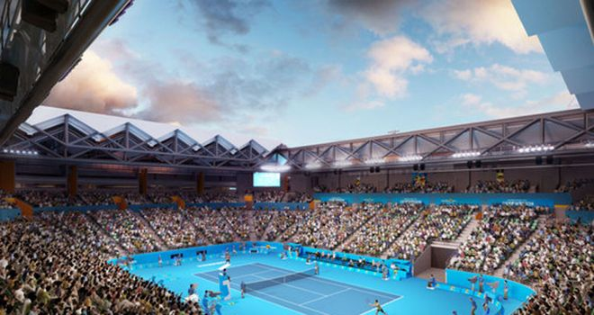 How the Margaret Court Arena will look in 2015