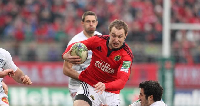 Johne Murphy: Signed a two year contract extension with Munster