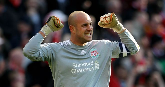 Pepe Reina: Sees improvement in Liverpool despite their poor league form