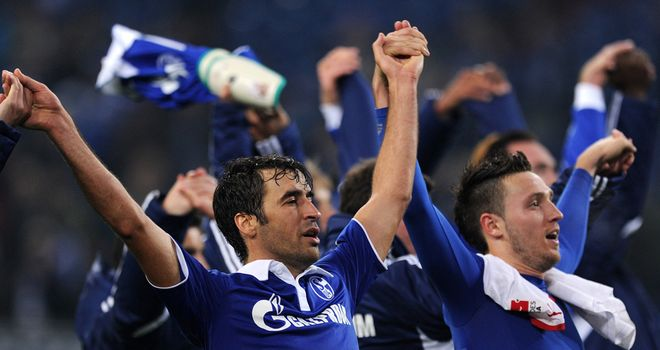 Raul: Has proved to be a success at Schalke but has yet to commit his future to the club