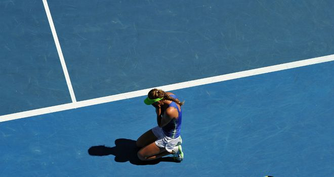 Victoria Azarenka: Collapsed to the floor with emotion after semi-final win