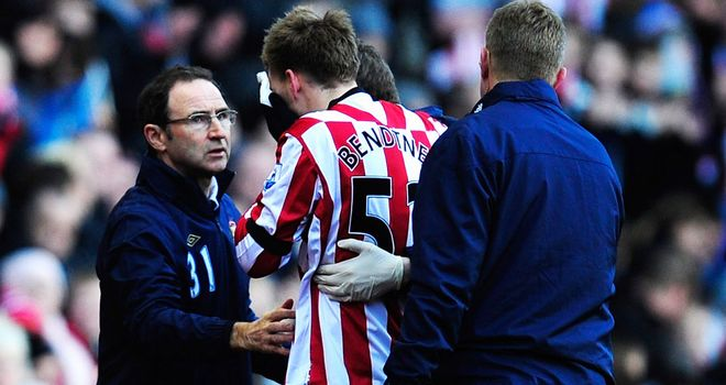 Nicklas Bendtner: Sunderland boss Martin O'Neill is on the look-out for a striker after the Dane suffered a broken nose against Swansea