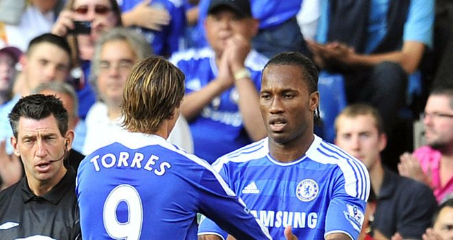 Fernando Torres and Didier Drogba: The strike duo have yet to form a successful pairing at Chelsea