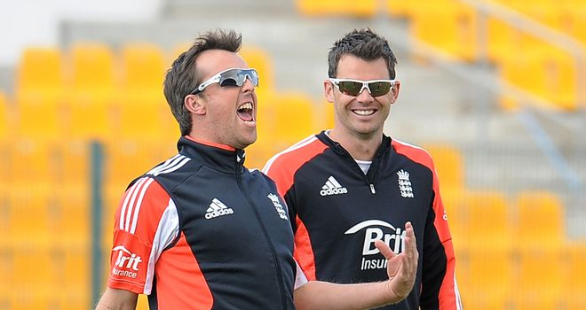 Graeme Swann (L) and James Anderson: No takers at their minimum prices