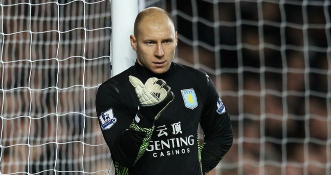 Brad Guzan: Villa reserve keeper is one of the players released by the club