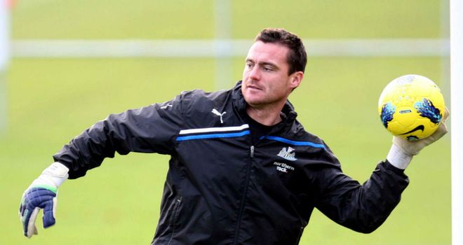 Steve Harper: Would love the chance to play against Everton on Monday night