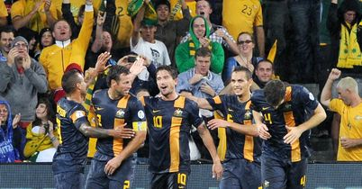 Australia: Celebrate as they beat Saudi Arabia