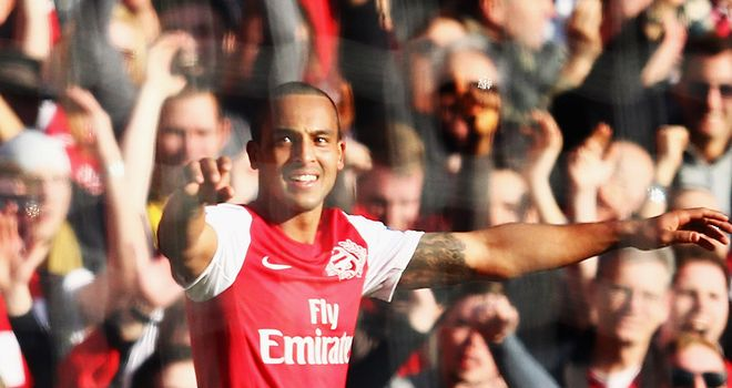 Theo Walcott: Scored twice in last weekend's win over Tottenham