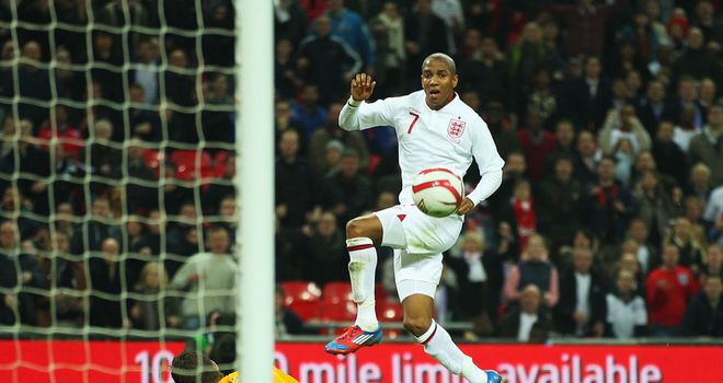 Ashley Young: Netted for the fourth time in his last five internationals when scoring against Holland