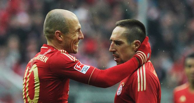 Arjen Robben and Franck Ribery: The Bayern Munich pair fell out over a free-kick in April