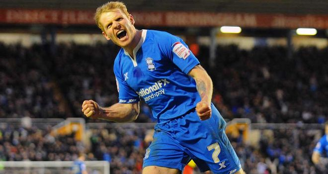 Chris Burke: The Scot found the net 14 times in an impressive first season for Birmingham since his move from Cardiff
