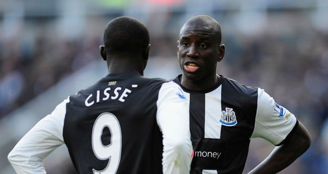 Papiss Cisse and Demba Ba have not fired together in attack