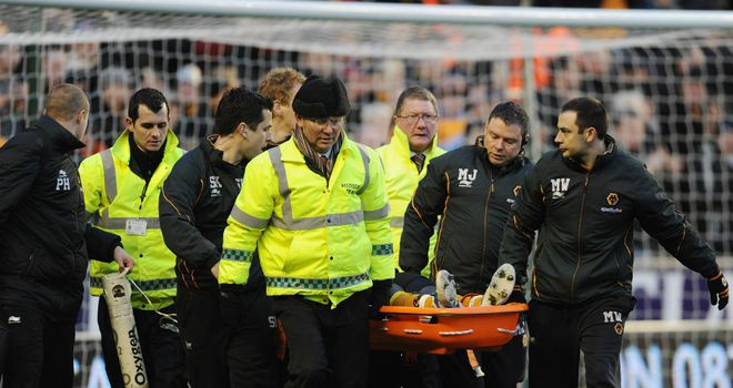 Emmanuel Frimpong: Carried off during Wolves win at QPR