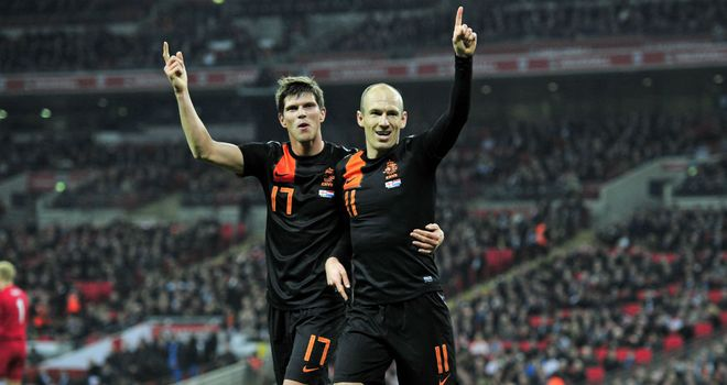 Klaas-Jan Huntelaar & Arjen Robben: Got the goals which saw Holland over the line