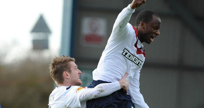 Aluko: Jumps for joy at Caledonian Stadium
