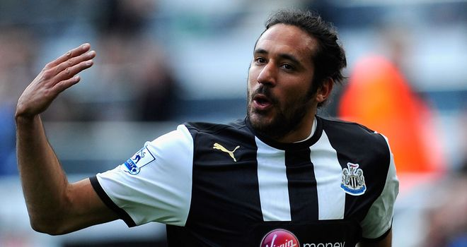Jonas Gutierrez: Wore the captain's armband during Newcastle's 2-0 win over Liverpool